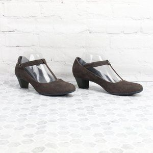 Camper Shoes Mary Janes Heels Black Leather Sz 10